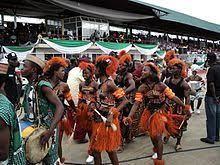 Traditional dancers in Akwa Ibom state