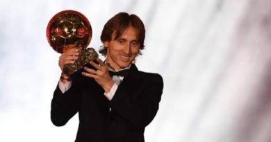 Luka Modric wins 2018 Balon D'or
