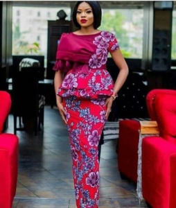 Classic Ankara Skirt and Blouse