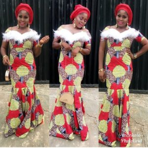 Ankara Long Gown