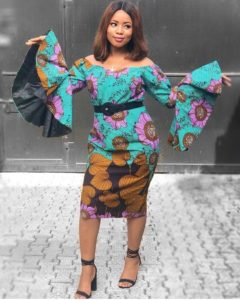 Stylish Ankara Short Gown