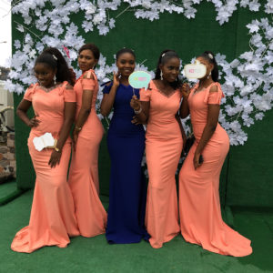 nigerian bridesmaid gowns