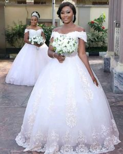 Nigerian wedding Gown