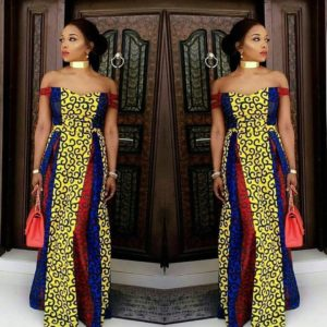Stylish Ankara Long Gown
