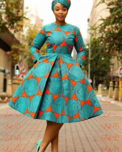 Latest Ankara Short Gown