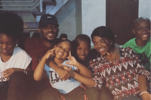 2face with his wife and some of his children