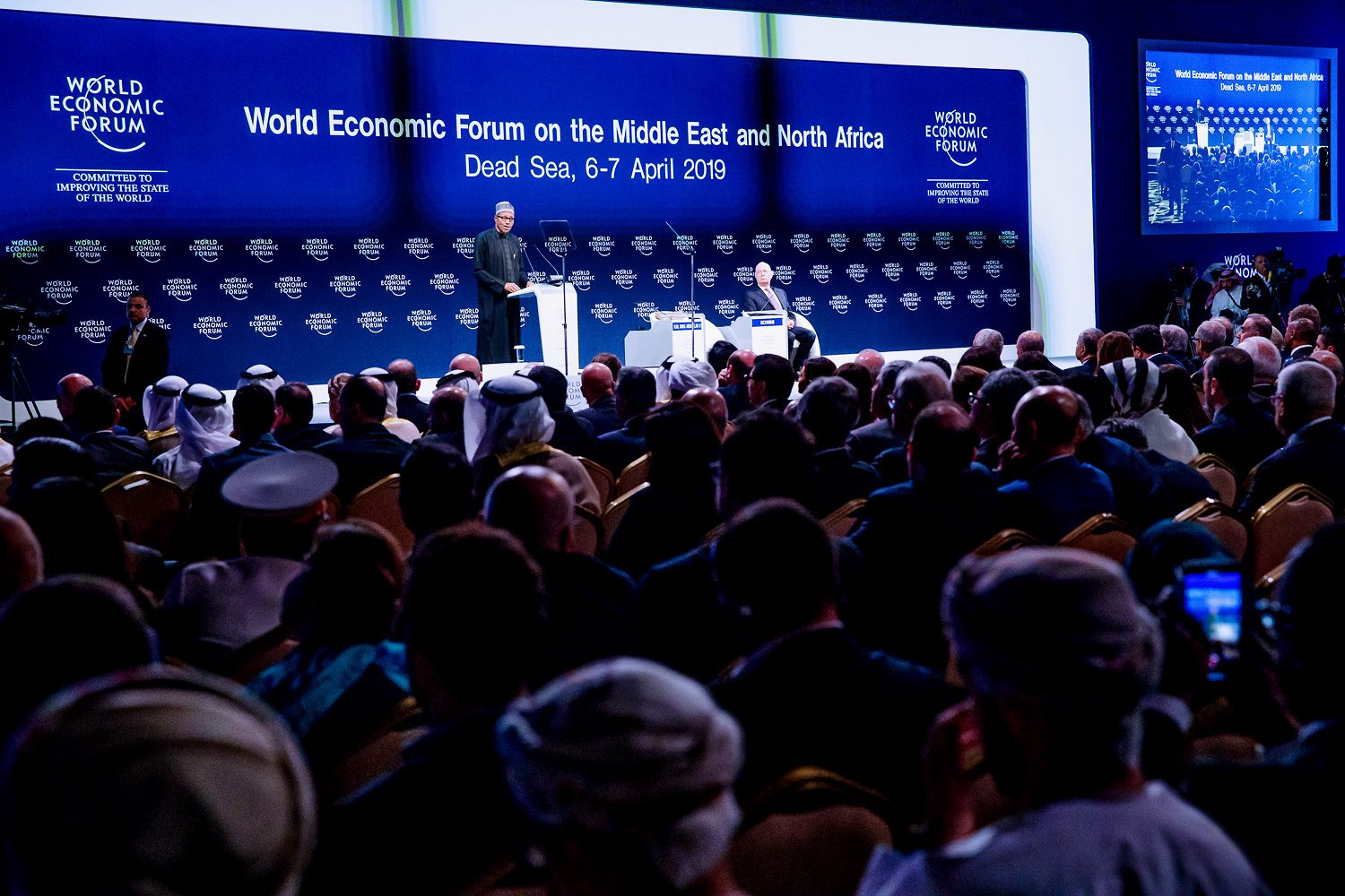 Buhari delivers keynote address at world economic forum