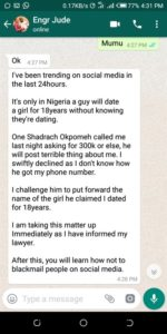 Man accused of dumping lady after 18 years debunks allegations