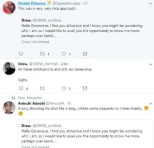 Man asks Genevieve out on Twitter