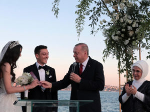 Turkish President serves as Mesut Ozil's Best Man on his wedding day