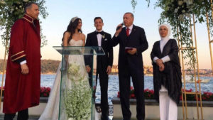 Turkish President serves as Mesut Ozil's Best Man on his wedding day