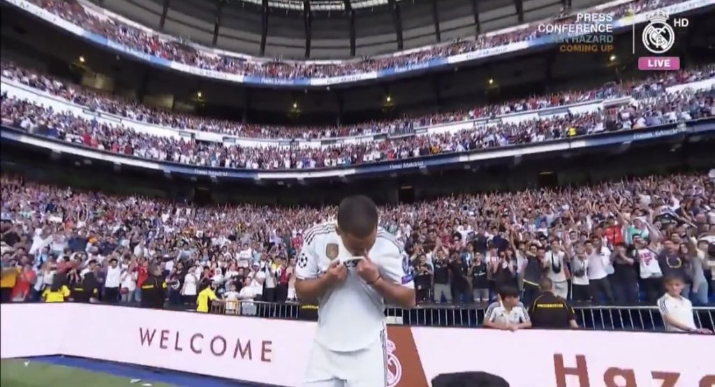 Hazard unveiling at Real Madrid