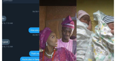 A man shared a beautiful story of how he met his wife on Twitter a year ago, married and welcomed twins afterwards.