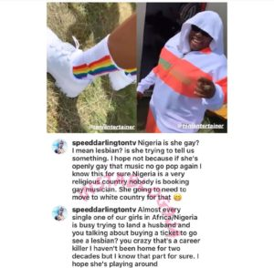 Speed Darlington questions Teni's sexuality