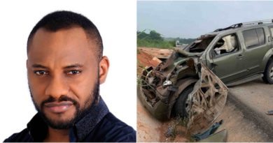 Yul Edochie survives ghastly motor accident