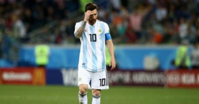 Disappointed Lionel Messi