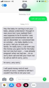 Nigerian singer found out girlfriend isn't carrying their child