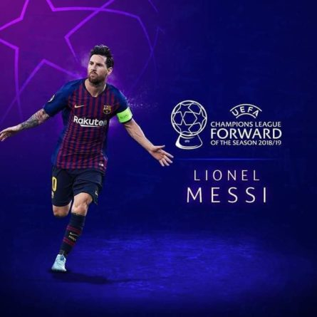 Messi wins UEFA forward of the season