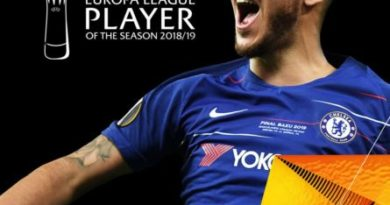 Hazard wins Europa League Player of the Year