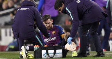 Messi sustains calf injury