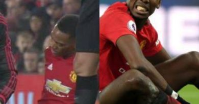 Pogba and Martial ruled out