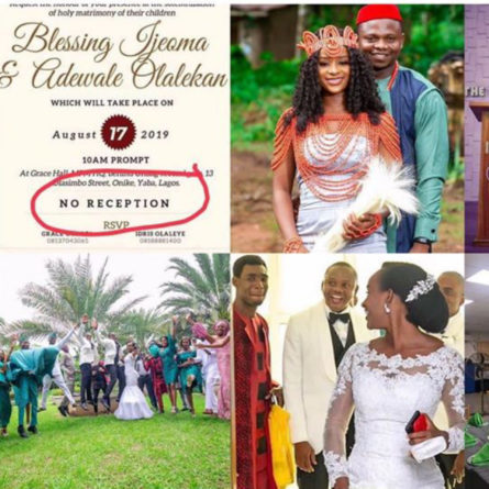 Couple had a wedding without reception