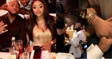 davido proposes to Chioma