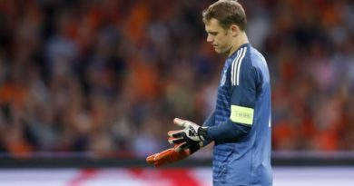 Disappointed Manuel Neuer
