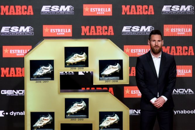 Lionel Messi Receives European Golden shoe