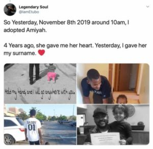 Man shares amazing story of how he adopted his daughter