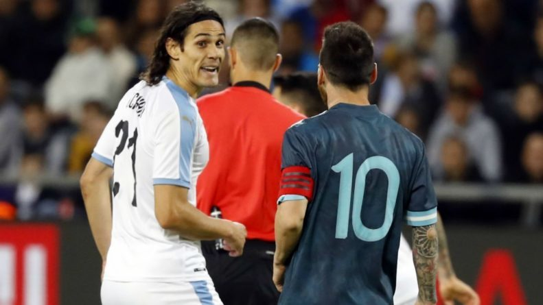 Cavani fights Messi