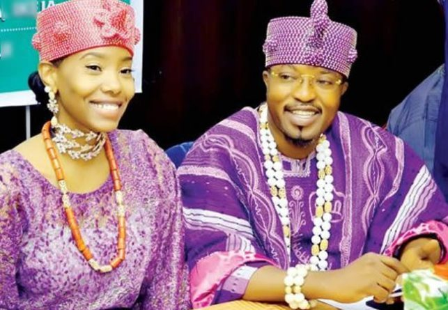Oluwo-of-Iwoland-Oba-Abdulrasheed-Akanbi-and-wife-Chanel-Chin
