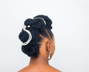 African bridal hairstyle