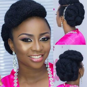 kinky wedding hair