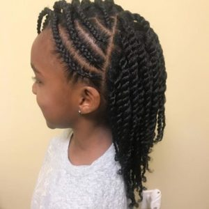 weaving hairstyle for kids