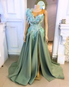 A line dinner gown