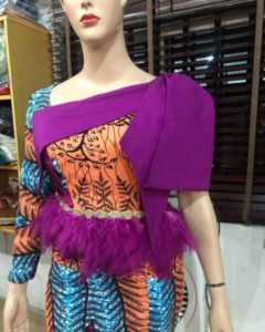 feathered peplum ankara