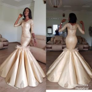 mermaid reception dress