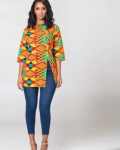 kente and jeans