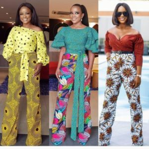 mixed ankara jumpsuit