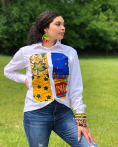 ankara shirt patchwork