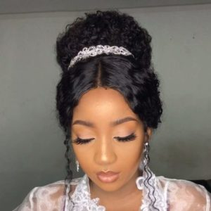 curly wedding hairstyle