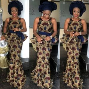 simple ankara gown