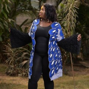 long ankara jacket