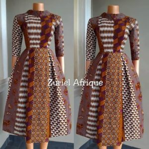 high neck ankara gown