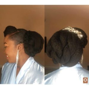 kinky attachment wedding hair