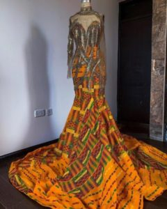 mermaid ankara gown