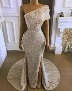 monostrap reception dress