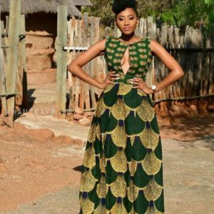 long ankara gown