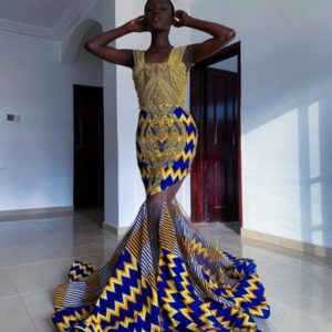 fit and flay ankara gown